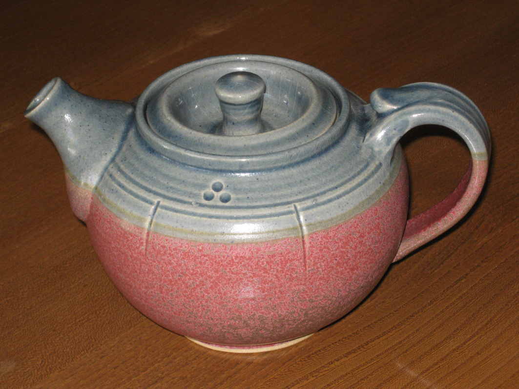 Red teapot from St Agnes Pottery