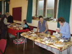 Coffee morning cake sale