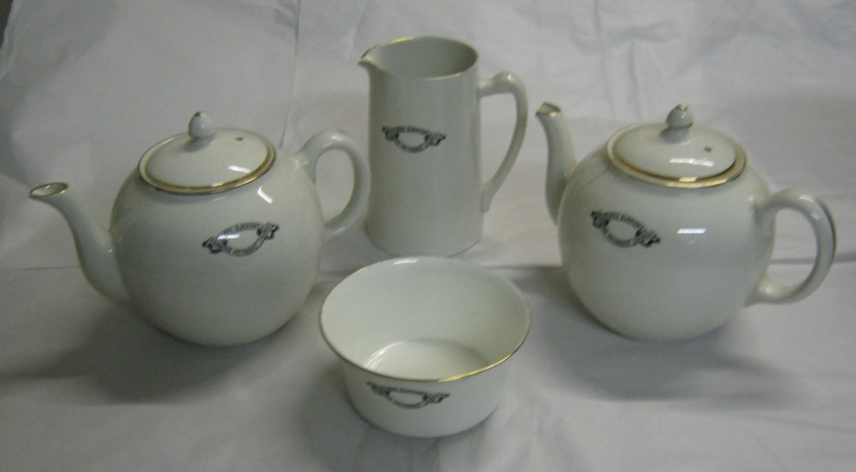 Set of crested china from Three Burrows Primitive Methodist Church