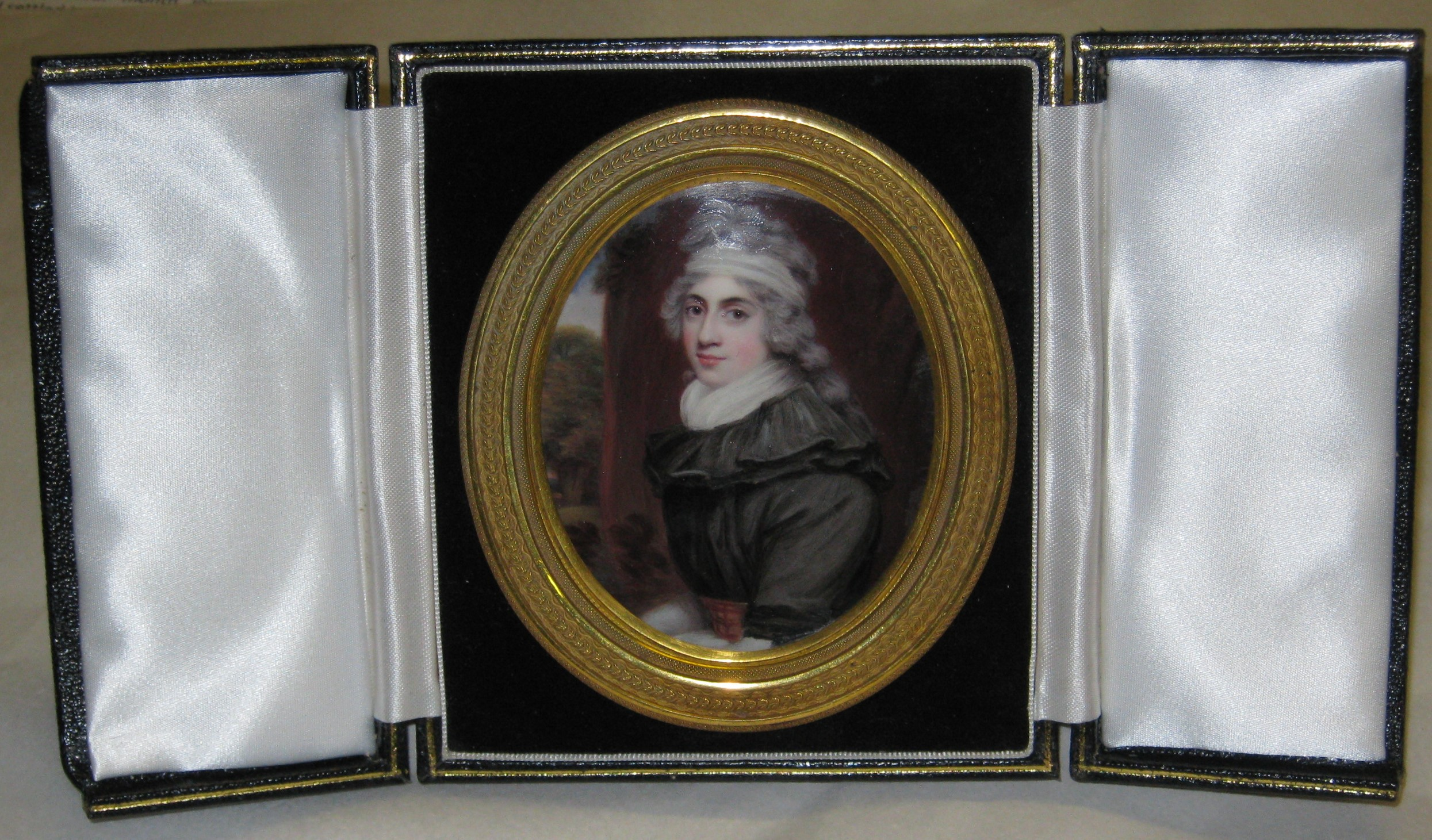Miniature of Mary Bunn, painted in 1794 by Truro born Henry Bone RA