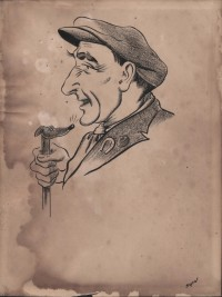 Caricature drawing by Hyman Segal