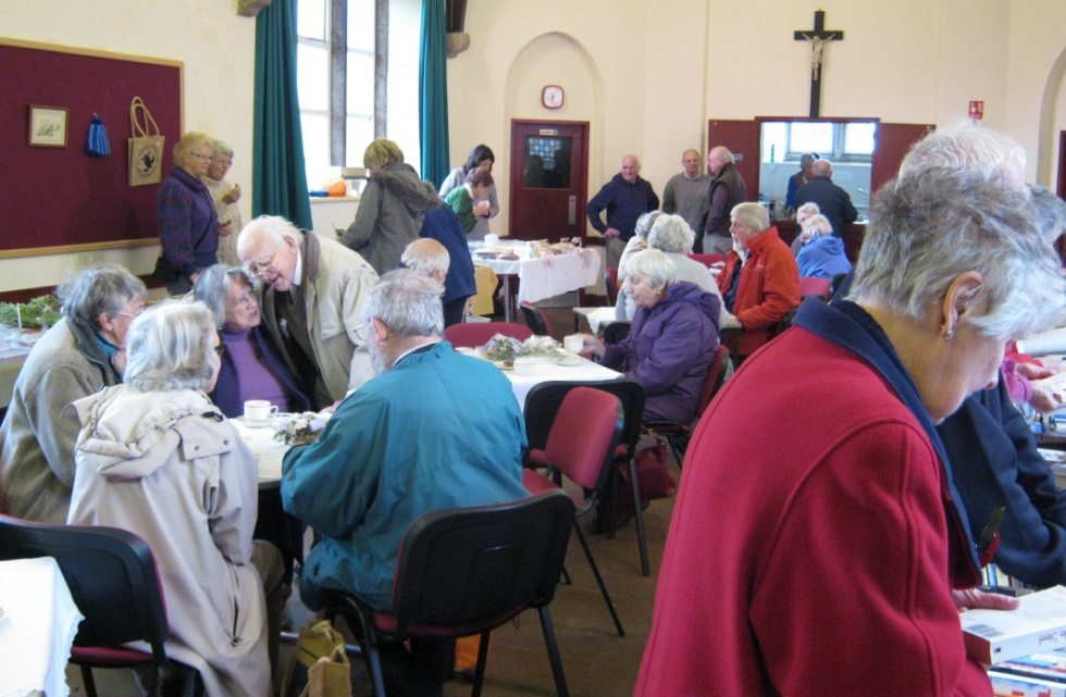 Members enjoying a welcome coffee
