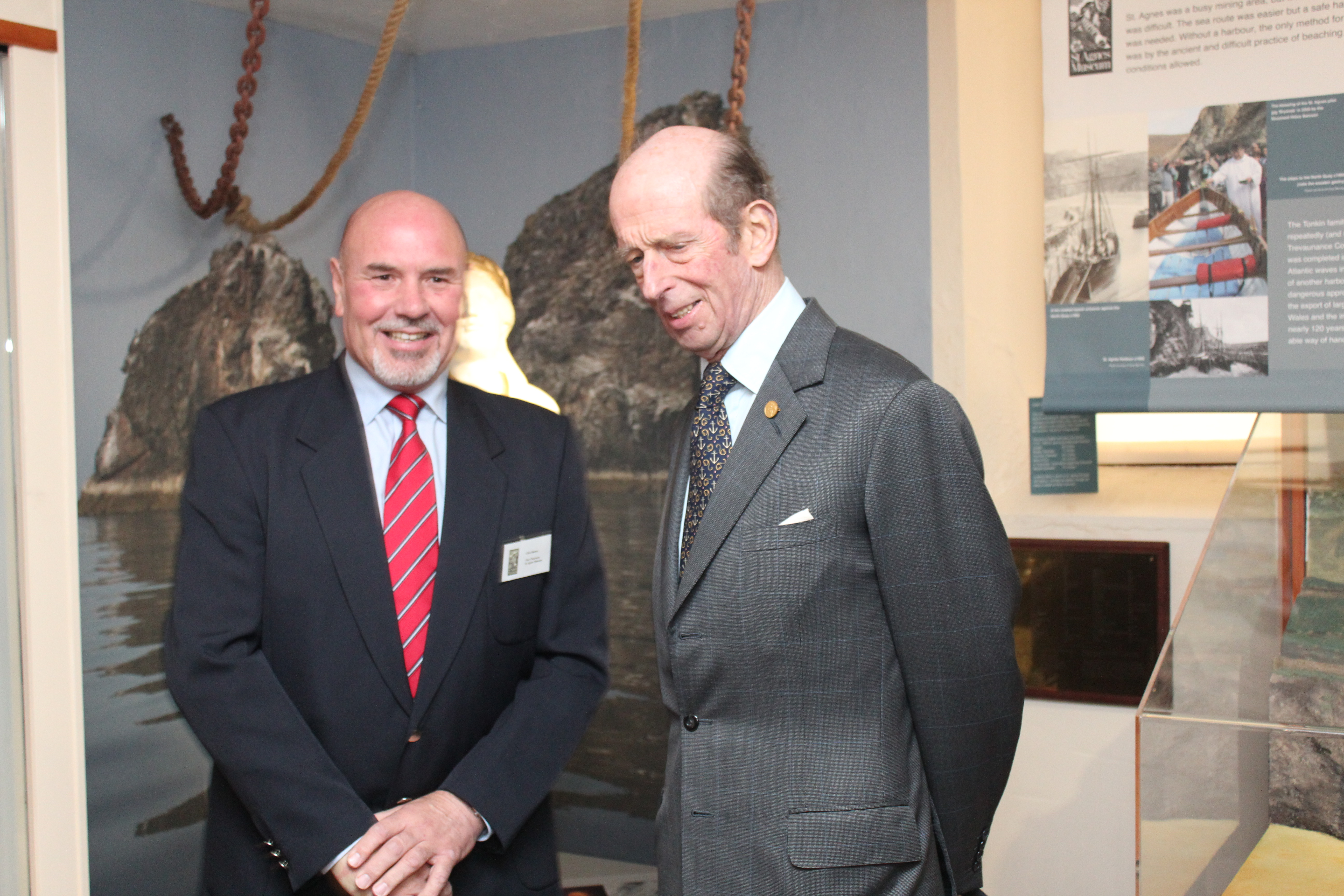 Duke of Kent visits St Agnes Museum
