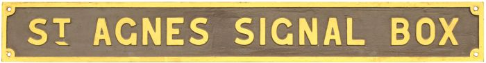 St Agnes Station signal box sign