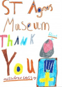 Thank you card from St Agnes School