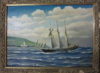 3-masted schooner Trevellas, built at Trevaunance Cove in 1876 by M T Hitchens.