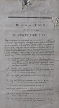 St Agnes Pier hand bill