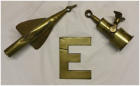 The ship's log and rotor, and the letter E from her name