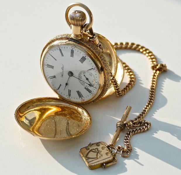 American railroad pocket watch