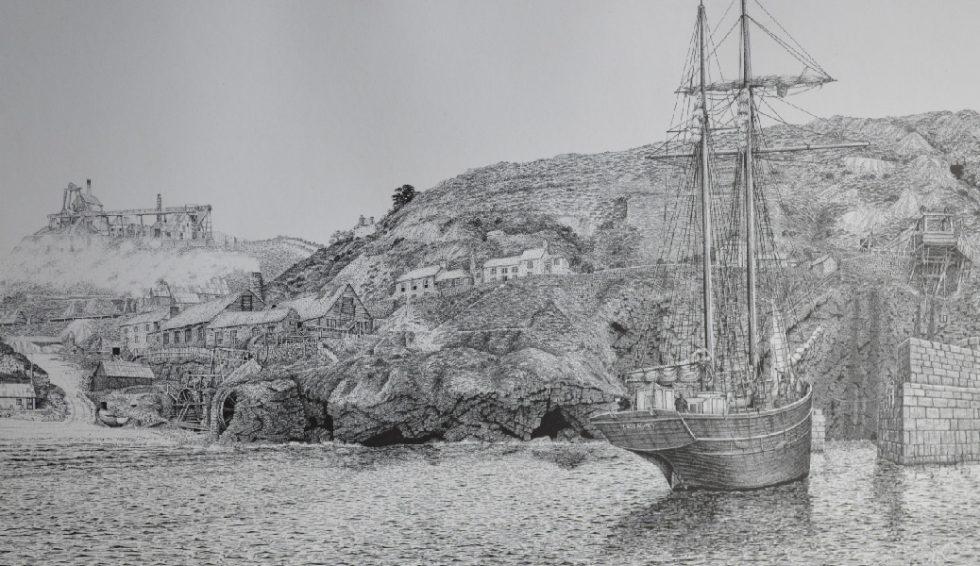 St Agnes Harbour print