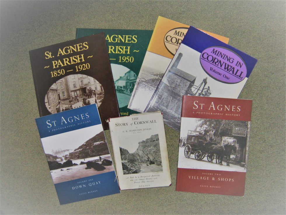 Collection of books about Cornwall